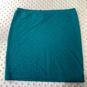 Candies Womens Sz S Teal Form Fitted Pencil Skirt